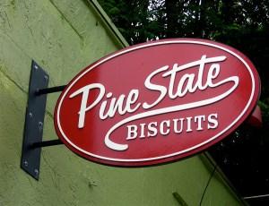 Pine State Biscuits Restaurant on NE Alberta Street in Portland, Oregon.  Photo from news print.
